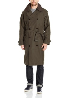 London Fog Men's Iconic Trench Coat  Green  Regular