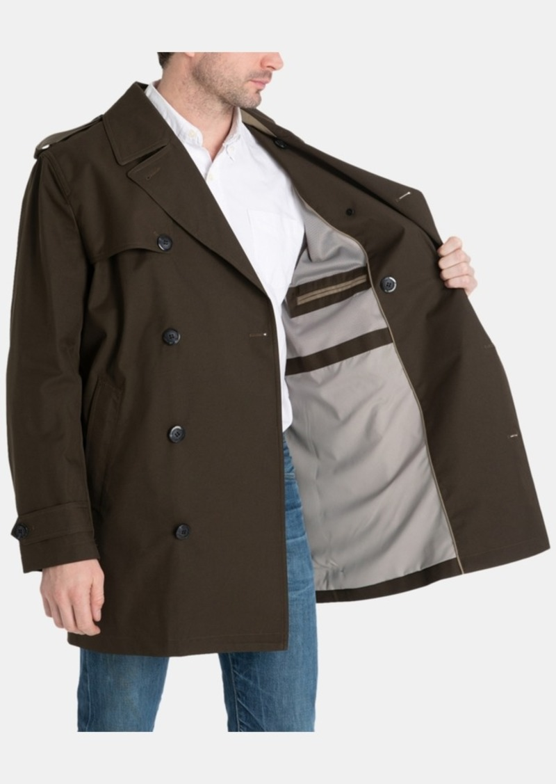 LONDON FOG Mens Berne Micro Twill All Weather Coat