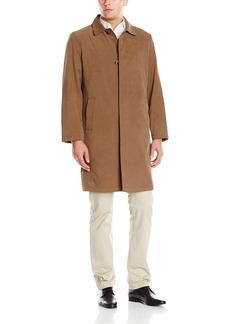 London Fog Men's Salem  Inch Twill Fly Front Rain Coat   Regular