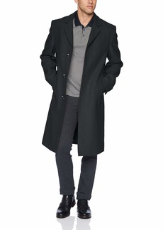 London Fog Men's Signature Wool Blend Top Coat  R