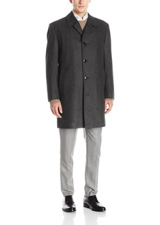 London Fog Men's Signature Wool Blend Top Coat  L
