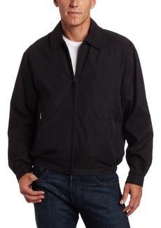 London Fog Men's Tall Auburn Zip Front Light Mesh Lined Golf Jacket  Large