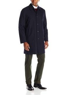 London Fog Men's Waterproof Breathable Wool Lined Balmaccan Top Coat