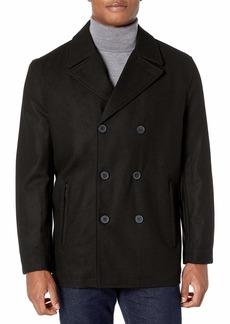 LONDON FOG Men's Wool Blend Double Breasted Pea Coat  XXL