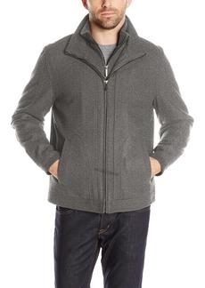 London Fog Men's Wool Blend Stand Collar Jacket With Bib  XXL