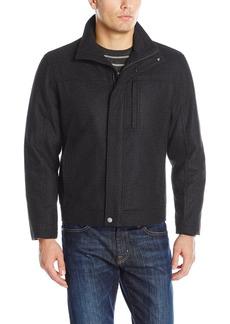 London Fog Men's Wool Blend Stand Collar Jacket  XL