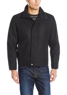 London Fog Men's Wool Blend Stand Collar Jacket  XXL