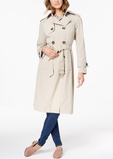 London Fog Belted Double-Breasted Water-Resistant Trench Coat