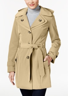 London Fog Petite Double-Collar Belted Trench Coat