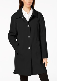 London Fog Petite Hooded Raincoat