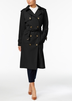London Fog Petite Long Trench Coat