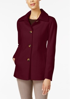 London Fog Petite Wool-Blend Peacoat