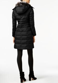 London Fog Plus Size Faux-Fur-Collar Down Coat
