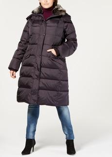 London Fog Plus Size Faux-Fur-Collar Hooded Puffer Coat