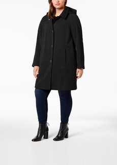 London Fog Plus Size Hooded Raincoat