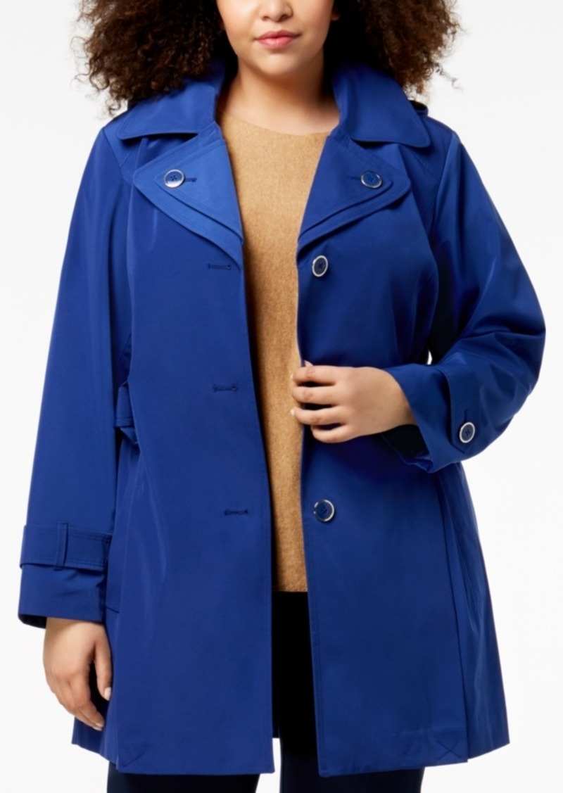ab1af29596b On Sale today! London Fog London Fog Plus Size Layered-Collar Trench ...