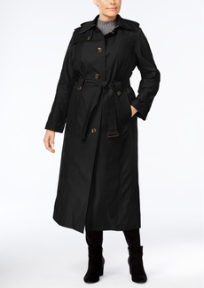 London Fog Plus Size Maxi Trench Coat