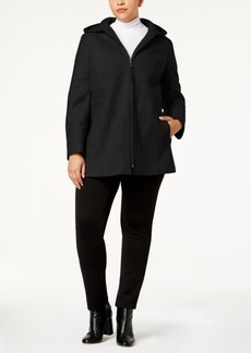 London Fog Plus Size Seamed Peacoat