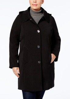 London Fog Plus Size Turn-Lock Raincoat