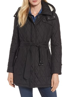 London Fog Quilted Coat with Faux Shearling Lining