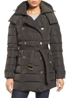 London Fog Quilted Down Trench Coat
