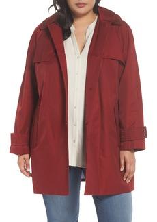 London Fog Removable Hood Rain Jacket (Plus Size)