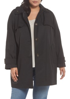 London Fog Removable Hood Rain Jacket (Plus Size)
