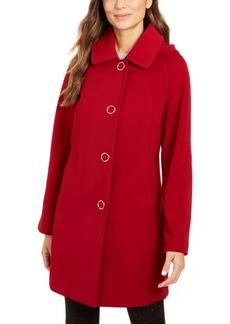 London Fog Single Breasted Hooded Raincoat
