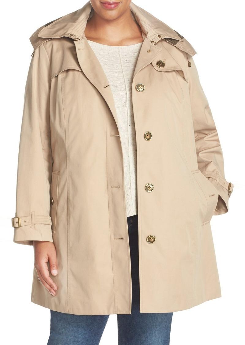 4e41c4da998e4 London Fog London Fog Single Breasted Trench Coat (Plus Size ...