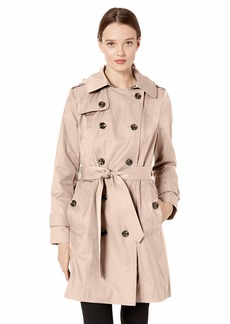 "London Fog Women's 36"" Length Double-Breasted Trench Coat with Belt  Extra Small"