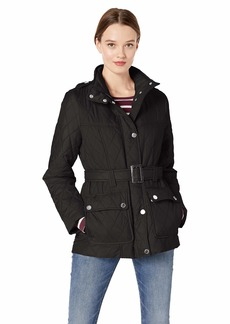 London Fog Women's Belted Quilt Jacket