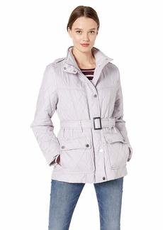 LONDON FOG Women's Belted Quilt Jacket