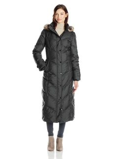 London Fog Women's Chevron Maxi Down Coat