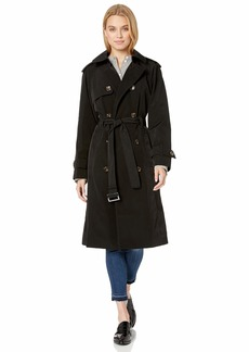 LONDON FOG Women's Double-Breasted 3/4 Length Belted Trench Coat  M