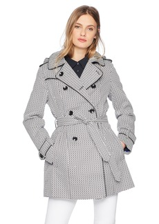 London Fog Women's Graphic Print Trench Coat  XS
