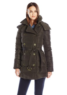 London Fog Women's Lf Heritage Beltedd/B Down Coat  XL