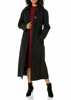 London Fog Women's Long Single Breasted Trench Coat