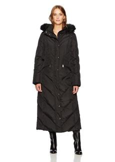 London Fog Women's Maxi Length Down Filled Coat  XS