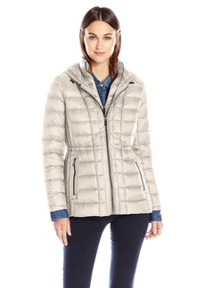 London Fog Women's Packable Down Coat with Removable Hood  M