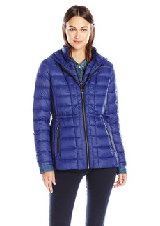 London Fog Women's Packable Down Coat with Removable Hood  XS