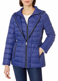 LONDON FOG Women's Packable Down Coat W/Removable Hood  M