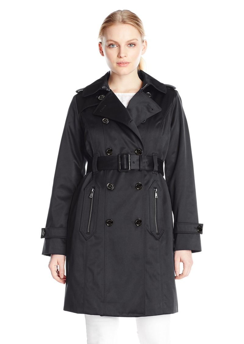 b00462ba4 Women's Petite Heritage Double Breasted Trench with Gold Buttons