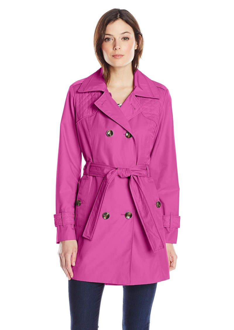 London Fog London Fog Women's Quilted Trench Coat ...