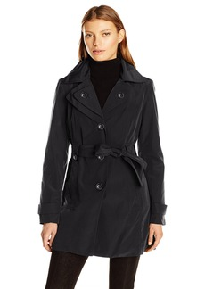 London Fog Women's S/B Belted Trench with Hood  M