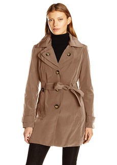 London Fog Women's S/B Belted Trench with Hood  L