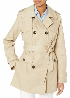 LONDON FOG Women's Short Trench Coat  Extra Large