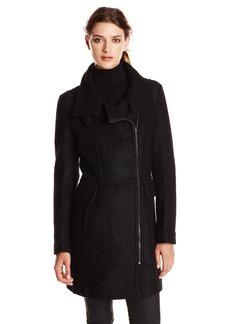 London Fog Women's Wool Boucle Coat