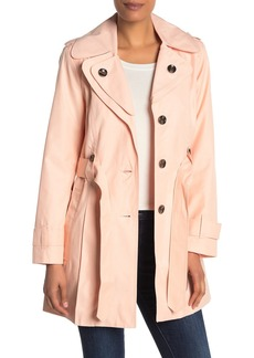 London Fog Missy Double Collar Trench Coat