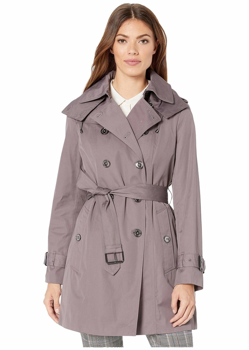 London Fog Olivia Heritage Double Breasted Trench with Removable Lining