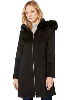 London Fog Zip Front Wool with Hood